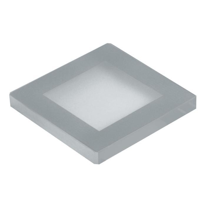 00GLAS9MMSQ/.. - LAVA - ETNA, spare glass - square mat glass 9mm for 1138 - S1139