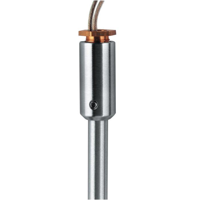 023.M6/.. - CONNECTOR FOR TRACKS, accessoires voor opbouwspot of pendel - M10 - M6x1 (12V)