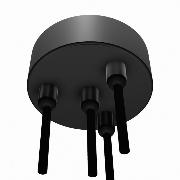 059.4/.. - ROSETTE for textile cable, opbouwrozet - verbindingsdoos met trekontlastingen voor 4 textielkabels
