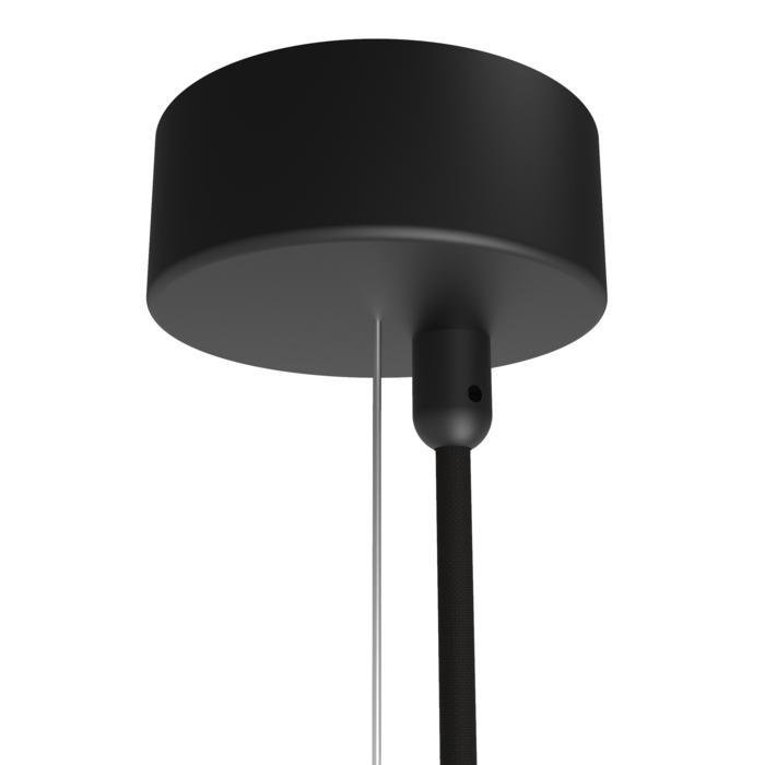 072/.. - ROSETTE for textile cable, opbouwrozet - verbindingsdoos met trekontlasting voor 1 textielkabel + staalkabel 2,25m