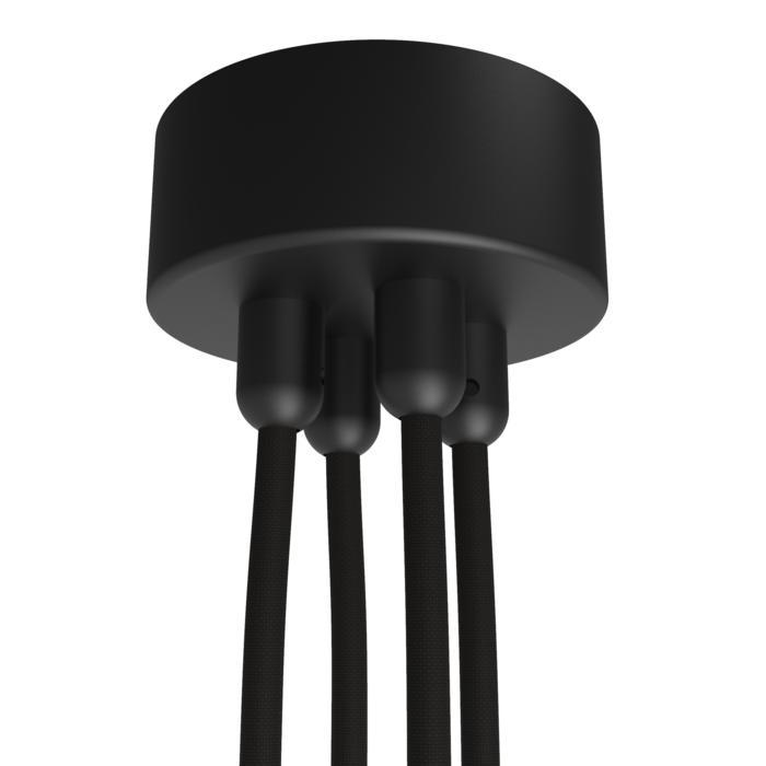 073.4/.. - ROSETTE for textile cable, opbouwrozet - verbindingsdoos met trekontlastingen voor 4 textielkabels