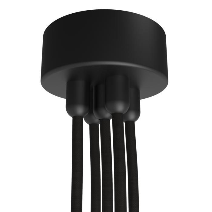 073.5/.. - ROSETTE for textile cable, opbouwrozet - verbindingsdoos met trekontlastingen voor 5 textielkabels