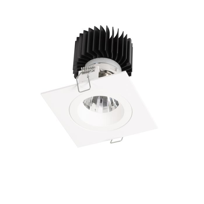 XTM.1300.10018.S1/.. - LUXOR Ø80, inbouwspot - vierkant - vast - met led - zonder LED driver