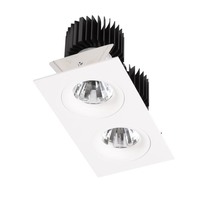 XTM.1300.10038.S2/.. - LUXOR Ø80, inbouwspot - vierkant - vast - met led - zonder LED driver