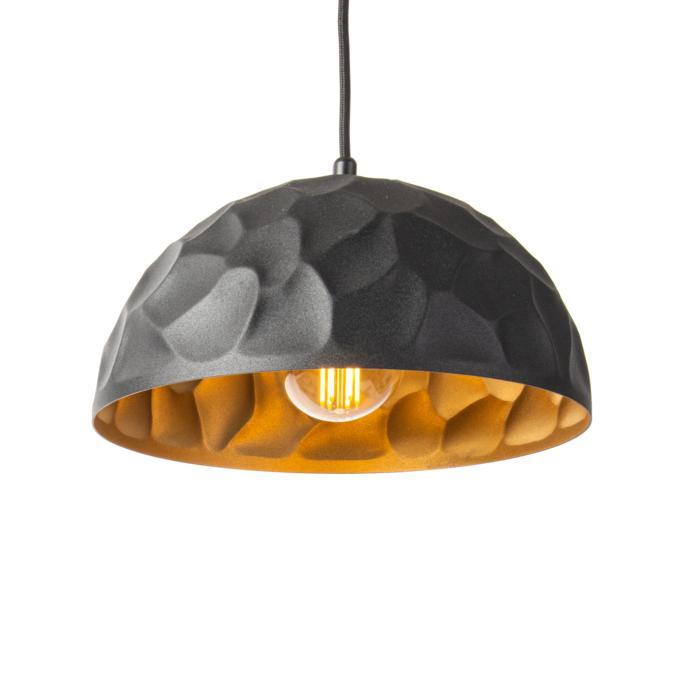 1398/.. - ROCKY, hanglamp - met 1,5m textielkabel en trekontlasting aan fitting