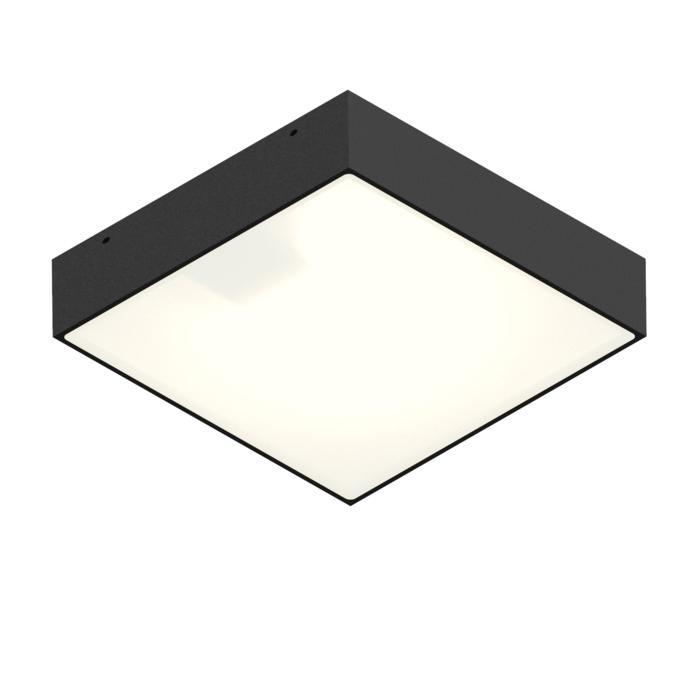 1419W/.. - CANVAS, opbouw plafond -of wandlicht - vierkant - vast - met opaal wit glas