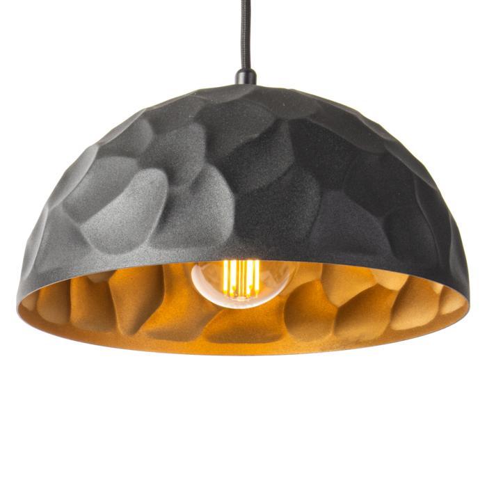 1422/.. - ROCKY, hanglamp - met 1,5m textielkabel en trekontlasting aan fitting