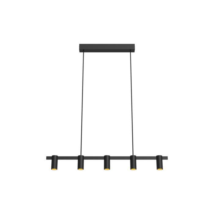 1425/.. - TALLY, hanglamp met bolgewricht - stang inkortbaar - vast - down - met LED driver