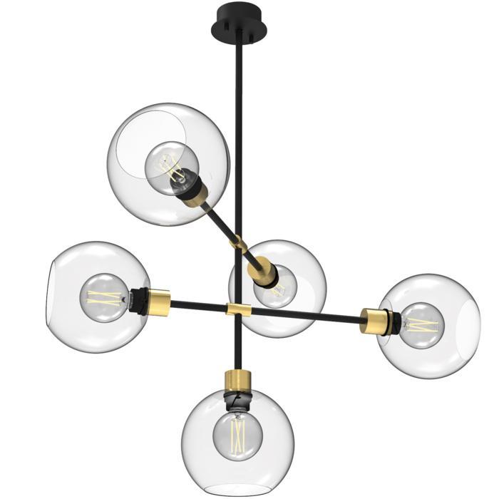 1507.5.E27/.. - CLEO, hanglamp met bolgewricht en opbouwdoos - vast