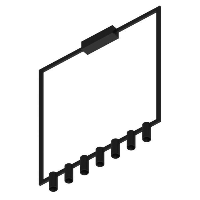 1737.CEN.7/.. - THINDR, opbouw plafondverlichting - vast - voeding centraal - met LED driver