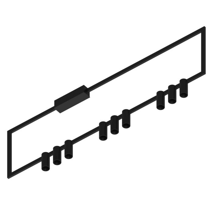 1749.AS.9/.. - THINDR, opbouw plafondverlichting - vast - voeding asymmetrisch - met LED driver
