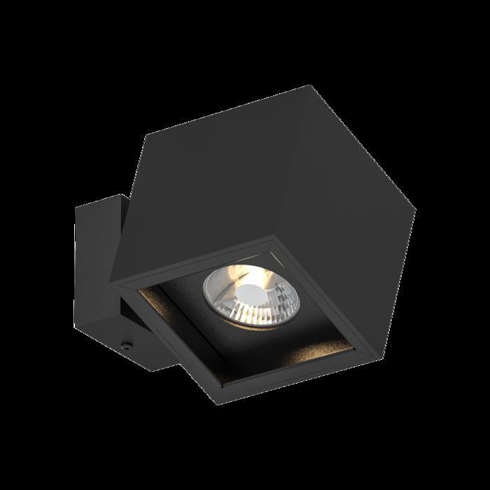 1752.ES50/.. - BETAPLUS, opbouw wandlicht - vierkant - down - toestel richtbaar - vaste cassette
