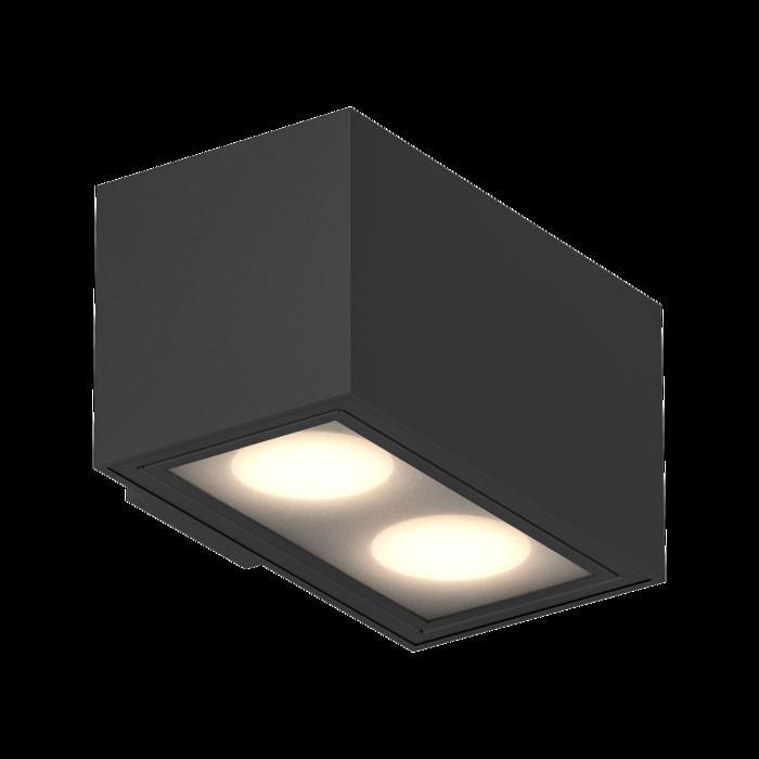 1756.ES50/.. - BETAPLUS, opbouw wandlicht - vierkant - vast - down - met glas