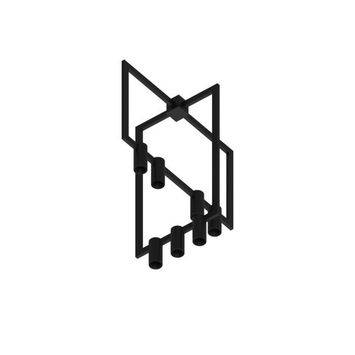 1757.CEN.7/.. - THINDR CROSS, opbouw plafondverlichting - vast - voeding centraal - zonder LED driver