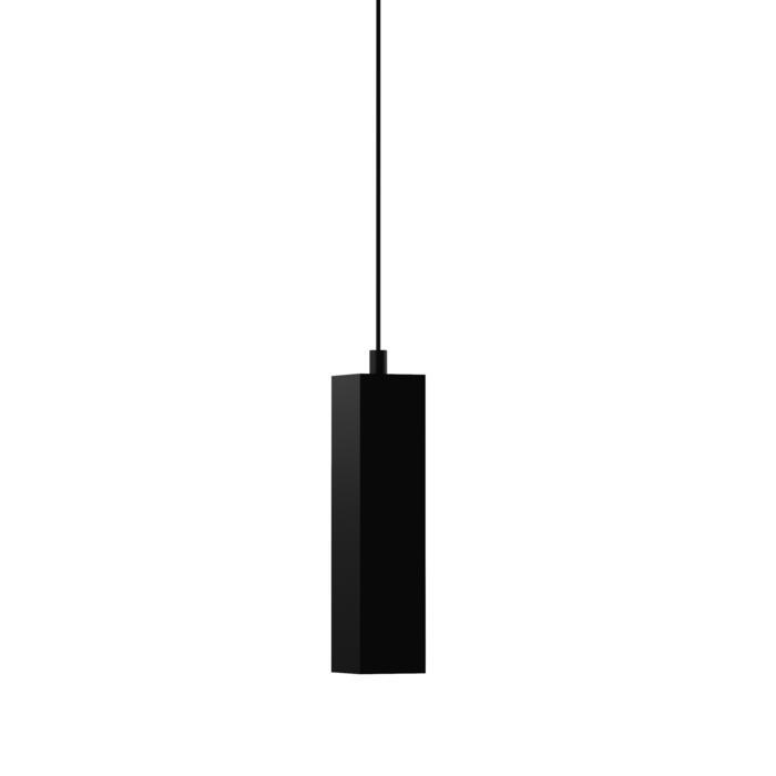 1846.AC.250/.. - MERO PENDEL, hanglamp - vierkant - met 1,5m textielkabel en trekontlasting aan fitting