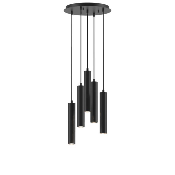 1909.5/.. - MERO, hanglamp - rond - met 5x Mero op basis Rondobox