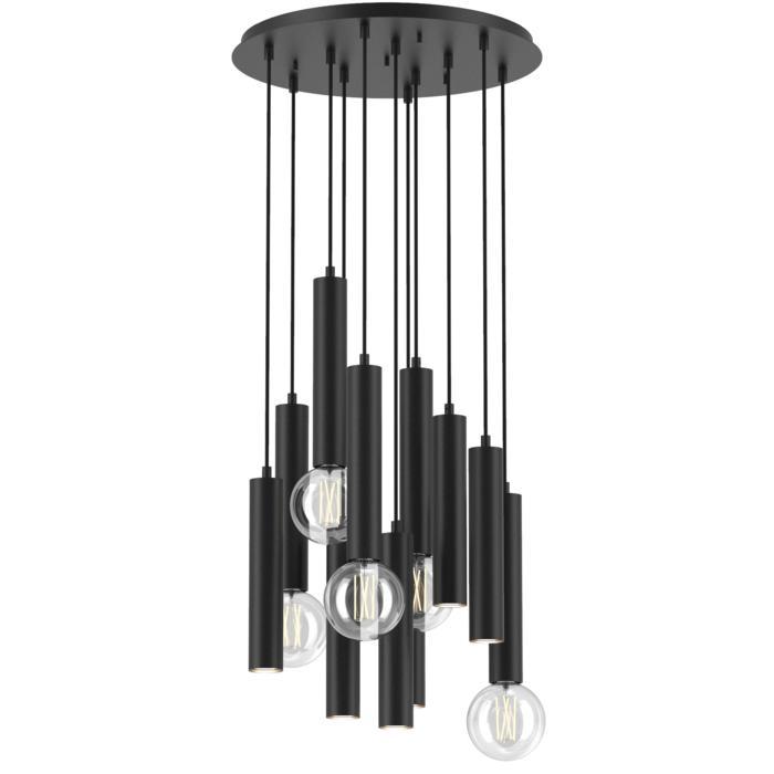1927.11/.. - MERO, hanglamp - rond - met 11x Mero op basis Rondobox