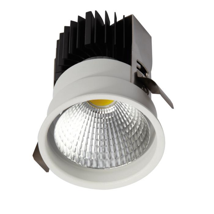 1764.IP20.S2/.. - KOZA X Ø80.IP20, inbouwspot - rond - vast - zonder LED driver