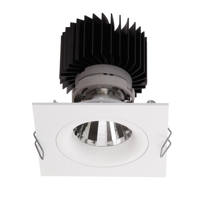 1391.IP20.S1/.. - LUXOR BOMBA.IP20, inbouwspot - vierkant - vast - met led - zonder LED driver