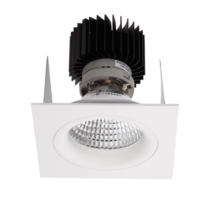 1393.IP20.S2/.. - LUXOR BOMBA.IP20, inbouwspot - vierkant - vast - down - met led - zonder LED driver