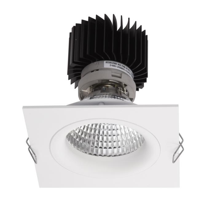 XTM.1300.10054.S1/.. - LUXOR Ø80, inbouwspot - vierkant - vast - met led - zonder LED driver