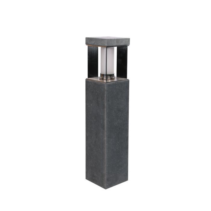 T298.600/.. - PORTO GRANDE, tuinpaal - standaard gezandstraald wit glas