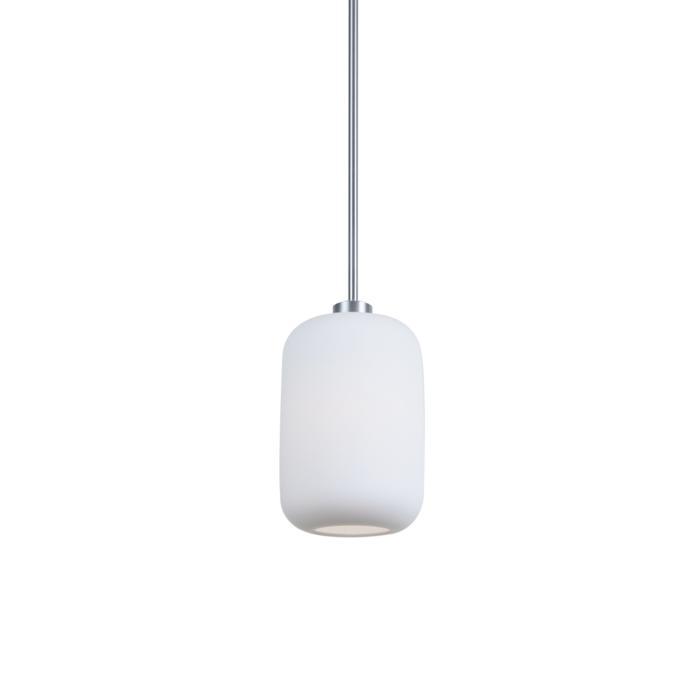 4057/.. - MONA, hanglamp met bolgewricht - stang inkortbaar - opaal mat