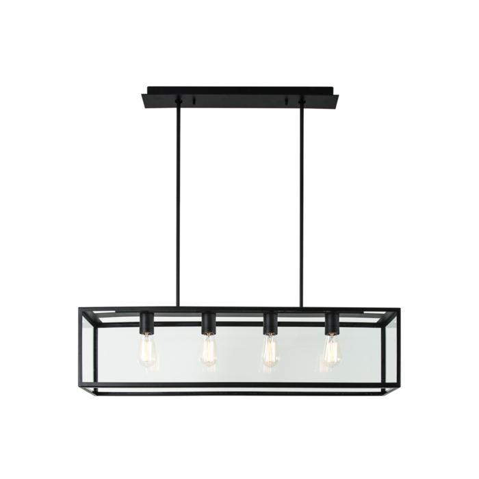 5101.4.XLO/.. - TAVOLO B200 L1000, hanglamp met bolgewricht - met bovenplaat open