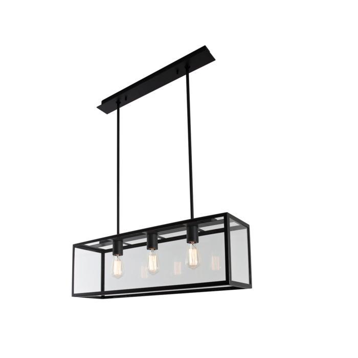 5101.3.XLO/.. - TAVOLO B200 L800, hanglamp met bolgewricht - stang inkortbaar - met bovenplaat open