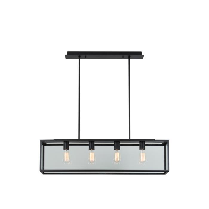 5104.4.SO/.. - TAVOLO B160 L1000, hanglamp met bolgewricht - stang inkortbaar - met bovenplaat open