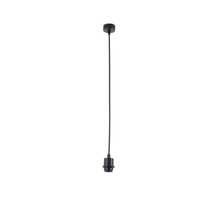 5005B/.. - MAESTRO FOR SHADE, hanglamp met textielkabel en trekontlasting - met ronde rozet - voor lampenkap