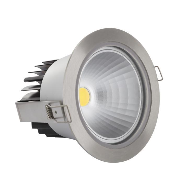3373/.. - FLUX INOX 316 Ø137, inbouwspot - rond - vast - down - met helder glas - met LED driver