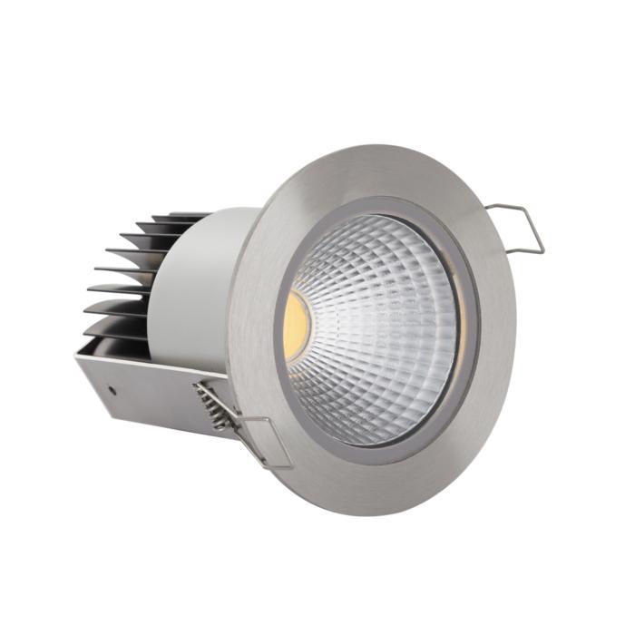 3372/.. - FLUX INOX 316 Ø92, inbouwspot - rond - vast - down - met helder glas - met LED driver