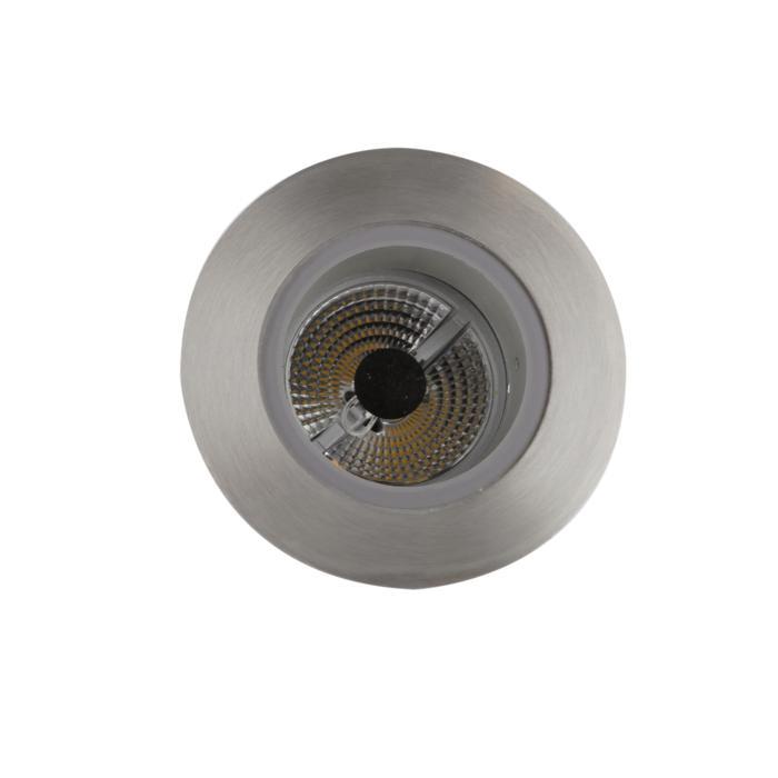 3161/.. - FLUX INOX 316 Ø72, inbouwspot - rond - vast - met helder glas - zonder transfo