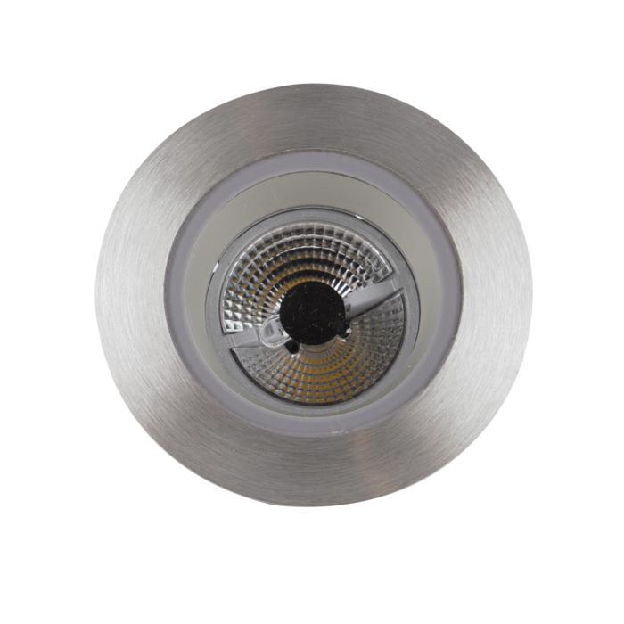 3168/.. - FLUX INOX 316 Ø82, inbouwspot - rond - vast - met helder glas