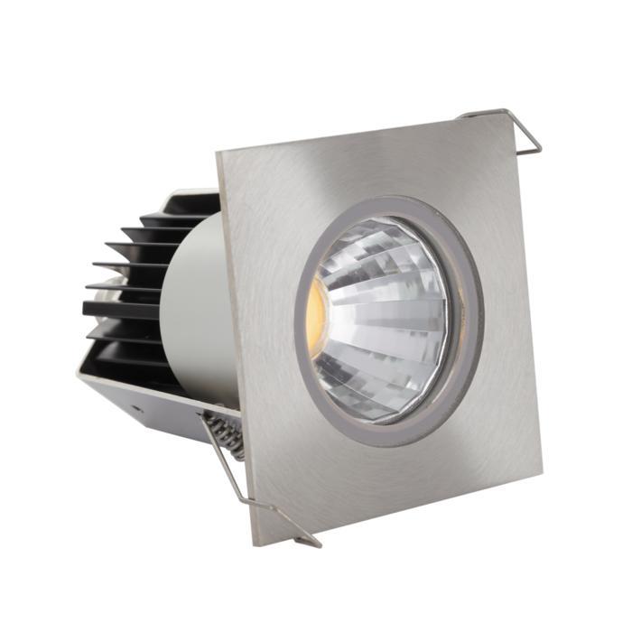 3374/.. - FLUX INOX 316 Ø72, inbouwspot - vierkant - vast - down - met helder glas - met LED driver