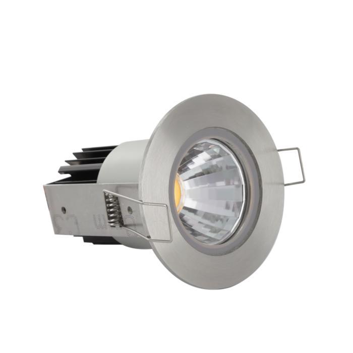 3370/.. - FLUX INOX 316 Ø72, inbouwspot - rond - vast - down - met helder glas - met LED driver