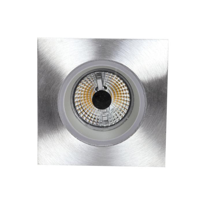 3169/.. - FLUX INOX 316 Ø82, inbouwspot - vierkant - vast - met helder glas