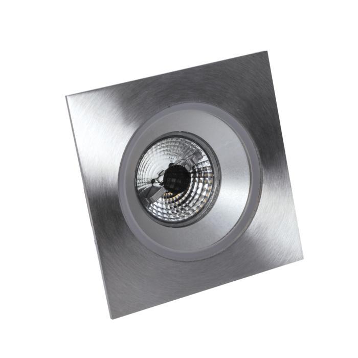 3172/.. - FLUX INOX 316 Ø92, inbouwspot - vierkant - vast - met helder glas - zonder transfo