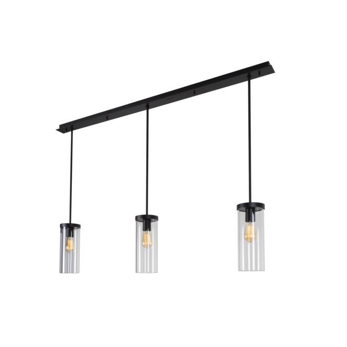 5070/.. - POLINA PENDEL 3, hanglamp met bolgewricht - stang inkortbaar - glas H320