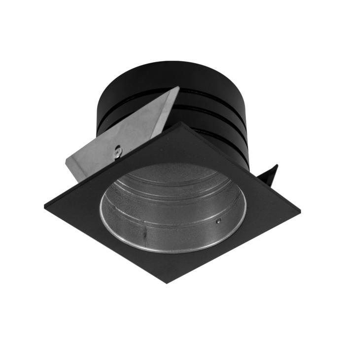 E-SINGLEBASE/.. - Ø82 EQUAL CLICK SYSTEM, inbouwring - vierkant - met rand