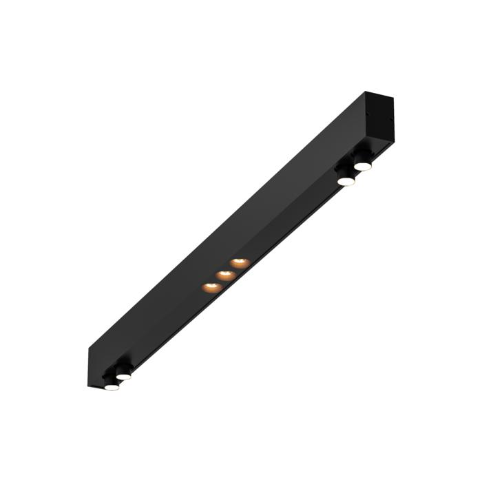 2922.1000/.. - STELLA LINE, down - profiel met 2x2 STELLA richtbaar + 1x3 ZIA LED vast - met LED driver