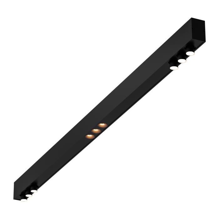 2923.1400/.. - STELLA LINE, down - profiel met 2x3 STELLA richtbaar + 1x3 ZIA LED vast - met LED driver