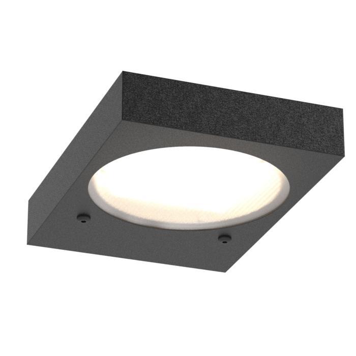 3076B/.. - TOLEDO, opbouw wandlicht - inox bevestiging bovenaan!