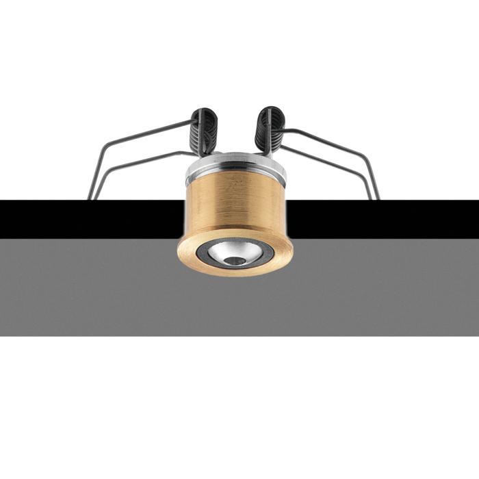 33D8,3/.. - ZIA BASE Ø30, base encastrable avec rotule - rond - orientable - sans transfo