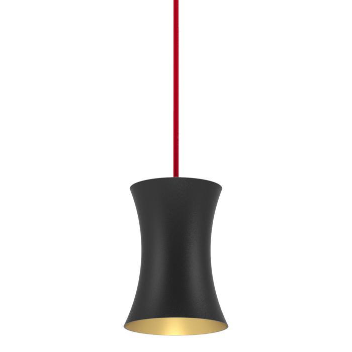 3406.AR70/.. - CLARA, hanglamp - vast - met 1,5m textielkabel en trekontlasting aan fitting