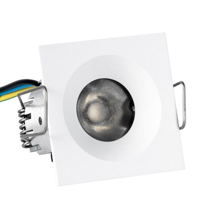 ZIALEDFC230V.S1/.. - Ø45 ZIA LED 230V, inbouw plafond- en wandlicht - vierkant - met led