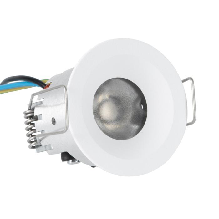 ZIALEDF230V.S1/.. - Ø45 ZIA LED 230V, inbouw plafond- en wandlicht - rond - vast - met led