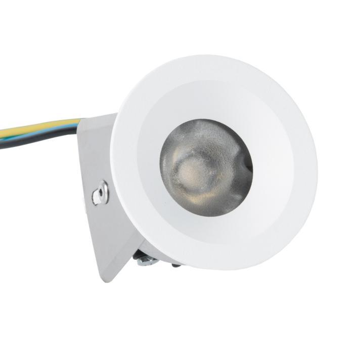 ZIALEDF230V.S2/.. - Ø45 ZIA LED 230V, inbouw plafond- en wandlicht - rond - met led