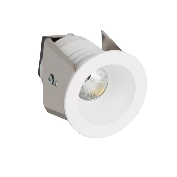 ZIALEDMIP44.S2/.. - Ø40 ZIA LED M IP44, inbouw plafond- en wandlicht - rond - vast - met led - zonder LED driver